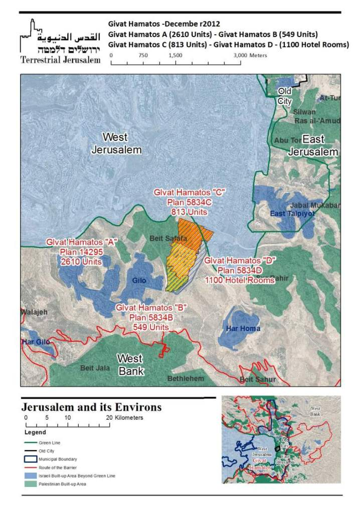 Givat Hamatos Plans - December 2012